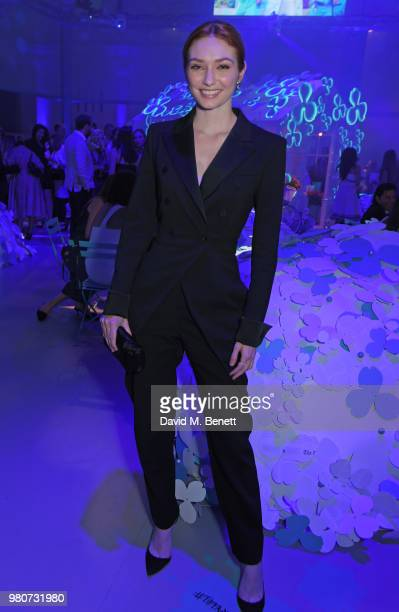 Eleanor Tomlinson attends as Tiffany Co celebrates the launch of the Tiffany Paper Flower collection at The Lindley Hall on June 21 2018 in London...