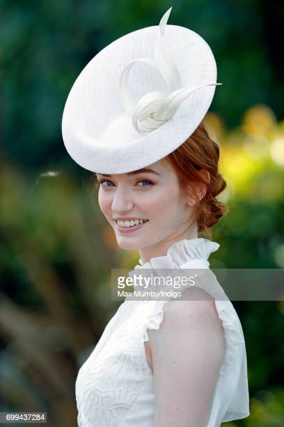 Eleanor Tomlinson attends day 2 of Royal Ascot at Ascot Racecourse on June 21 2017 in Ascot England