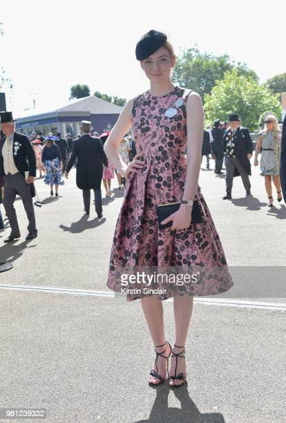 Eleanor Tomlinson attends day 4 of Royal Ascot at Ascot Racecourse on June 22 2018 in Ascot England