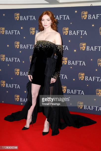 Eleanor Tomlinson attends the BAFTA Film Gala at the The Savoy Hotel ahead of the EE British Academy Film Awards this Sunday on February 08 2019 in...