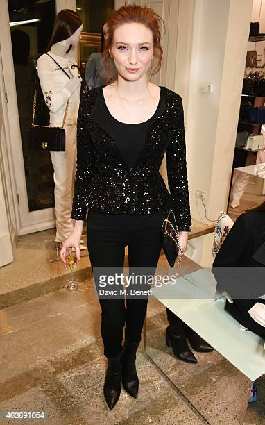 Eleanor Tomlinson attends the Dior 'Diorama' Launch at Dover Street Market on February 17 2015 in London England