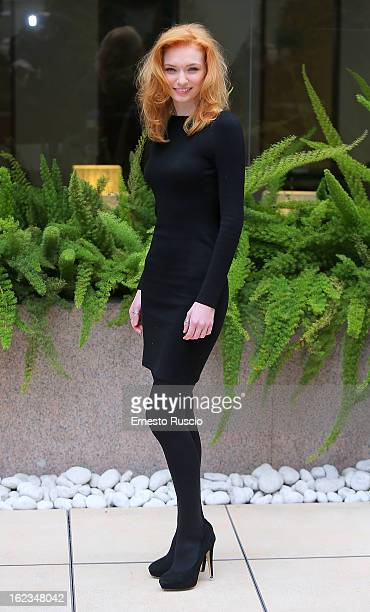Eleanor Tomlinson attends the 'Educazione Siberiana' photocall at Hotel Visconti Palace on February 22 2013 in Rome Italy