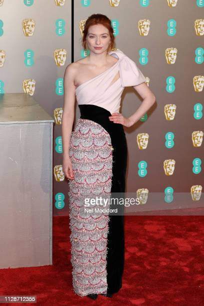 Eleanor Tomlinson attends the EE British Academy Film Awards at Royal Albert Hall on February 10 2019 in London England