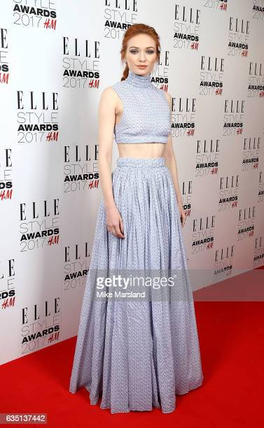 Eleanor Tomlinson attends the Elle Style Awards 2017 on February 13 2017 in London England