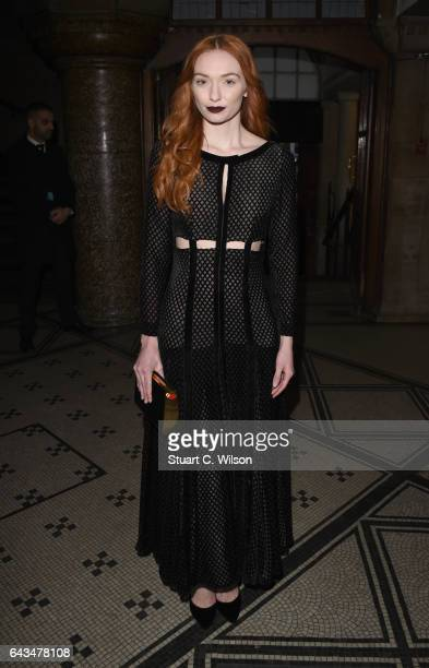 Eleanor Tomlinson attends the Emilia Wickstead AW17 catwalk show at The College on February 18 2017 in London England