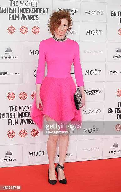 Eleanor Tomlinson attends the Moet British Independent Film Awards at Old Billingsgate Market on December 7 2014 in London England
