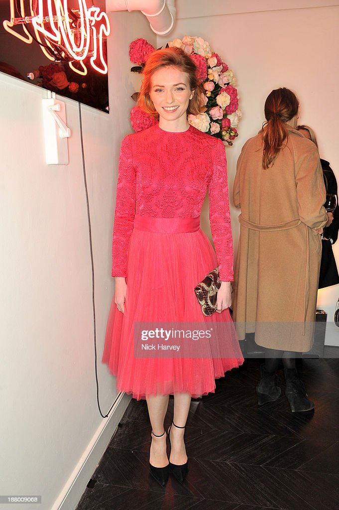 Eleanor Tomlinson attends the opening of Dior Beauty Boutique on November 14, 2013 in Covent Garden, London, England.