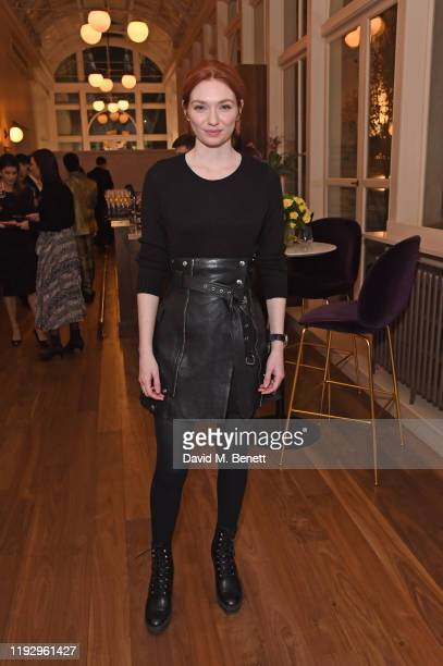 Eleanor Tomlinson attends the press night preshow reception for La Boheme at The Royal Opera House on January 10 2020 in London England