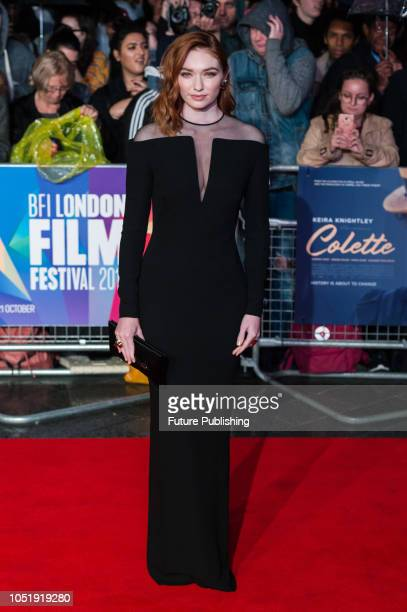 Eleanor Tomlinson attends the UK film premiere of 'Colette' at Cineworld Leicester Square during the 62nd London Film Festival BFI Patrons Gala...