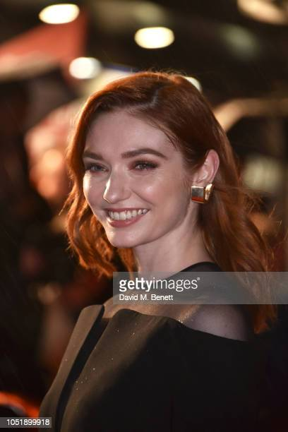 Eleanor Tomlinson attends the UK Premiere and BFI Patrons Gala screening of Colette during the 62nd BFI London Film Festival at Cineworld Leicester...