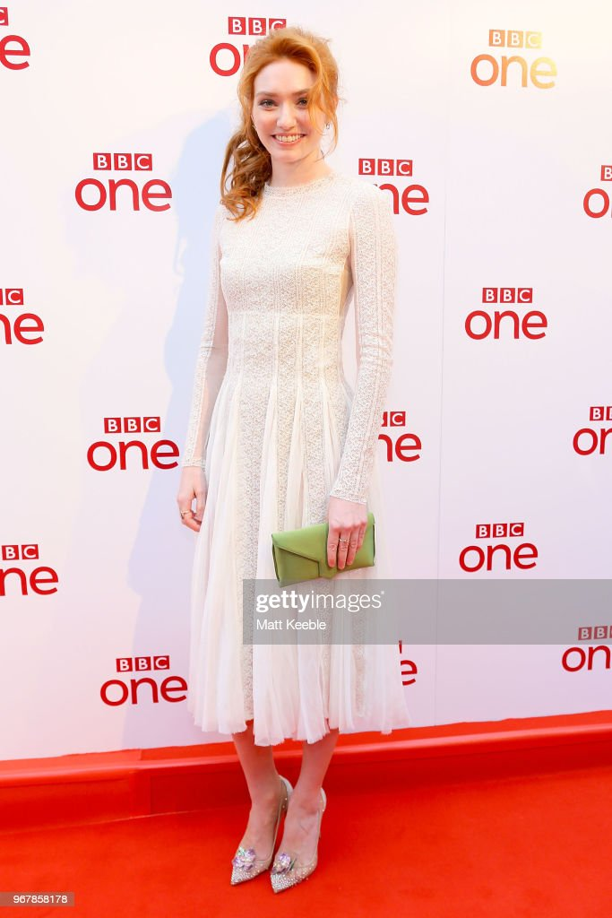 Eleanor Tomlinson during a photocall for 'Poldark' at Regal Cinema Redruth on June 5, 2018 in Cape Cornwall, England.