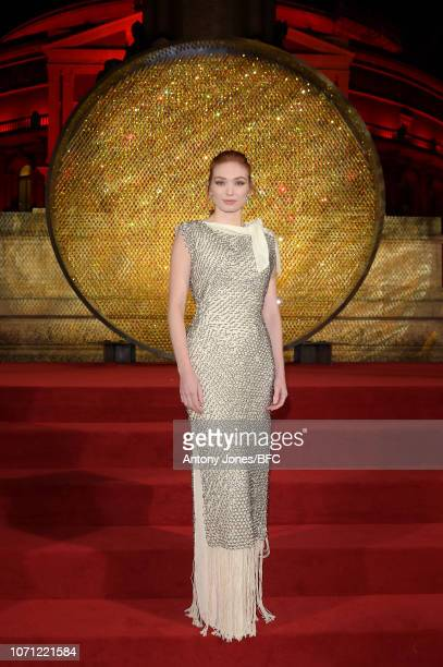 Eleanor Tomlinson during The Fashion Awards 2018 In Partnership With Swarovski at Royal Albert Hall on December 10 2018 in London England