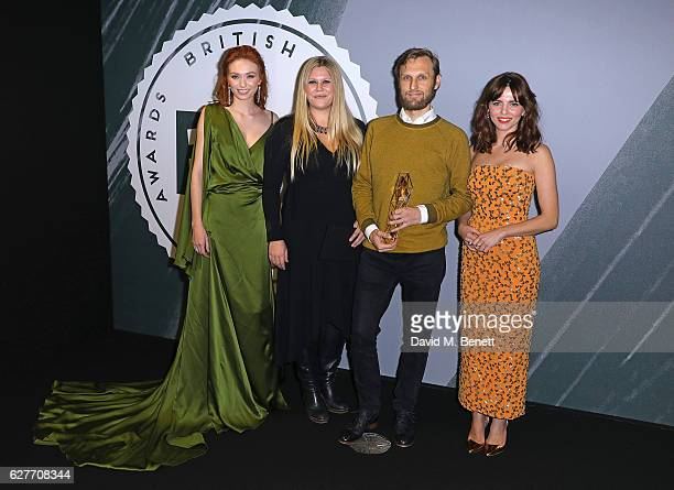Eleanor Tomlinson Jennifer Ericsson Rene Pannevis and Ophelia Lovibond pose and at The British Independent Film Awards Old Billingsgate Market on...