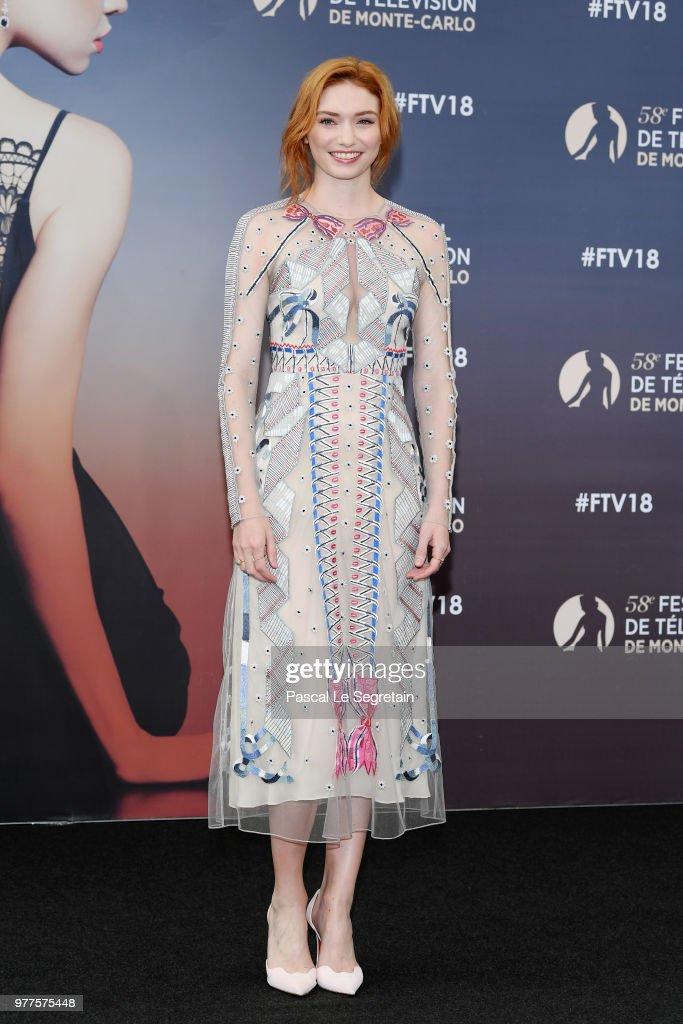 Eleanor Tomlinson of the serie 'Poldark' attends a photocall during the 58th Monte Carlo TV Festival on June 18, 2018 in Monte-Carlo, Monaco.