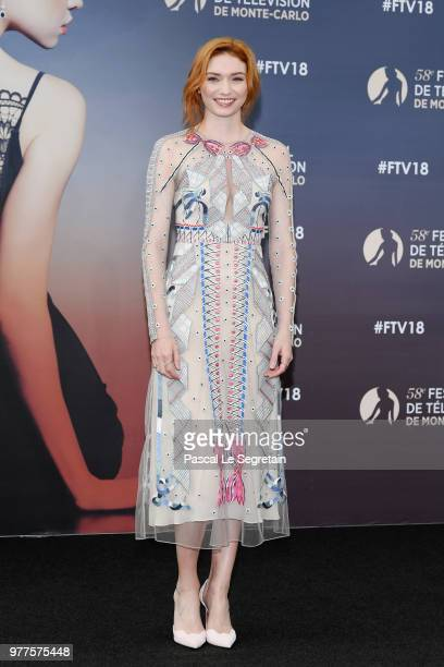 Eleanor Tomlinson of the serie Poldark attends a photocall during the 58th Monte Carlo TV Festival on June 18 2018 in MonteCarlo Monaco