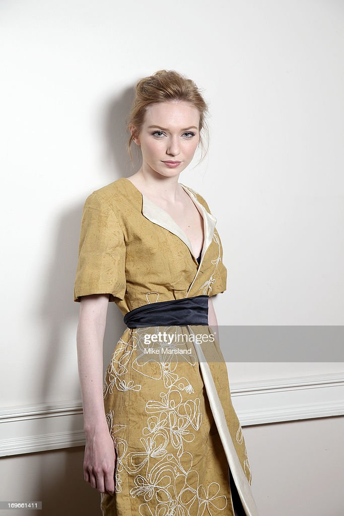 Eleanor Tomlinson poses for Stella/Esquire Portrait Studio at Somerset House on May 29, 2013 in London, England.