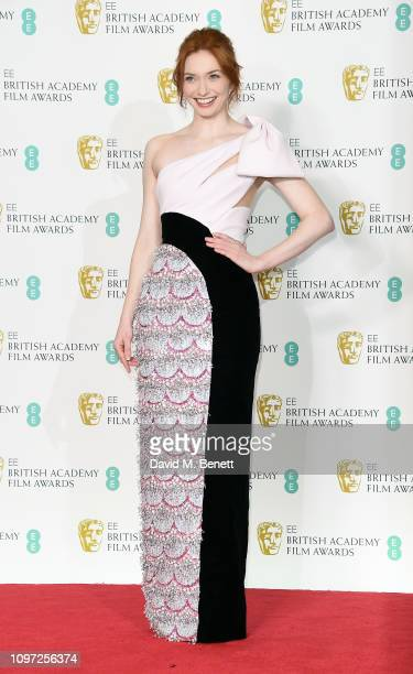 Eleanor Tomlinson poses in the press room at the EE British Academy Film Awards at Royal Albert Hall on February 10 2019 in London England