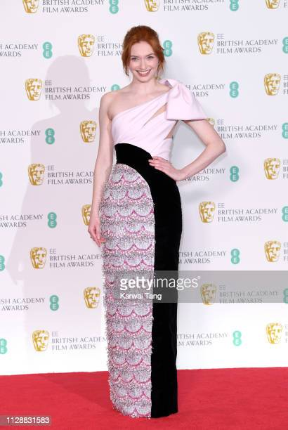Eleanor Tomlinson poses in the press room during the EE British Academy Film Awards at Royal Albert Hall on February 10 2019 in London England