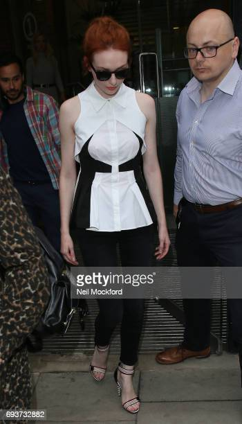 Eleanor Tomlinson seen leaving BUILD Series LDN at AOL on June 8 2017 in London England