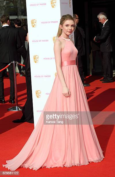 Eleanor Worthington Cox arrives for the House Of Fraser British Academy Television Awards 2016 at the Royal Festival Hall on May 8 2016 in London...