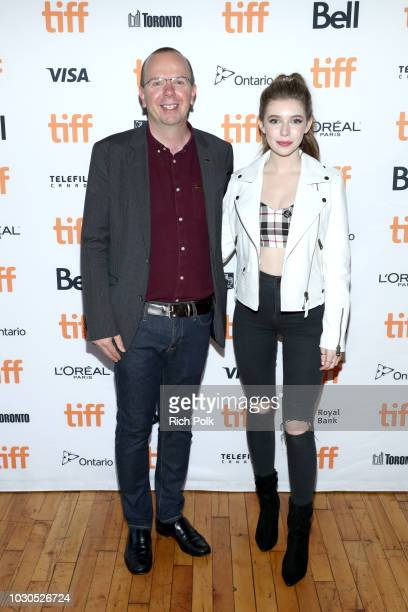 Eleanor WorthingtonCox and IMDb Founder and CEO Col Needham attend The 2018 Rising Stars Power Break Lunch At The 2018 Toronto International Film...