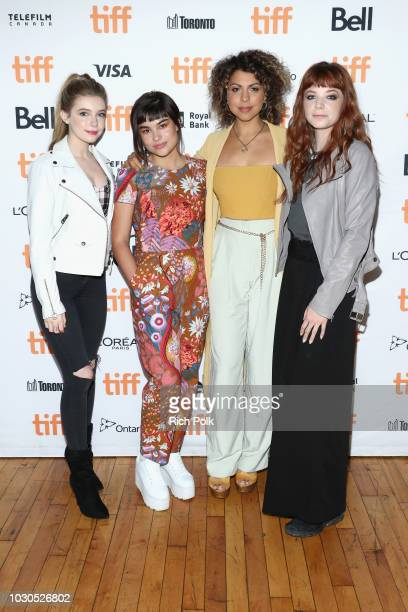 Eleanor WorthingtonCox Devery Jacobs Jess Salgueiro and Michaela Kurimsky attend The 2018 Rising Stars Power Break Lunch At The 2018 Toronto...