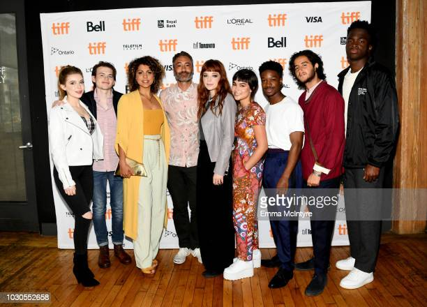 Eleanor WorthingtonCox Josh Wiggins Jess Salguerio Taika Waititi Michaela Kurimsky Devery Jacobs Lamar Johnson Ahmed Malek and Stéphane Bak attend...