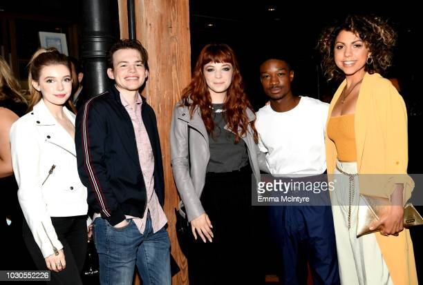 Eleanor WorthingtonCox Josh Wiggins Michaela Kurimsky Lamar Johnson and Jess Salguerio attend TIFF 2018 Rising Stars Annual Power Break Luncheon on...