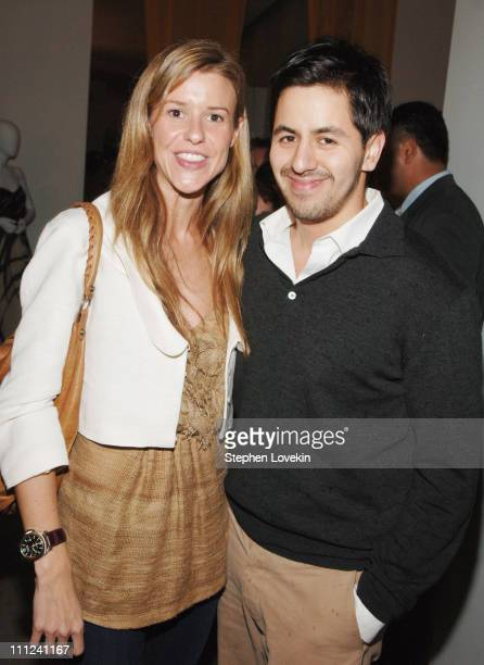 Eleanor Ylvisaker and Brian Reyes during Brian Reyes Clebrates His Spring 2006 Collection Hosted by Maurice Villency at Maurice Villency Showroom in...