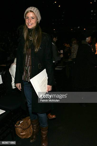 Eleanor Ylvisaker attends Charles Nolan Fall 2006 Fashion Show at The Tent at Bryant Park on February 7 2006 in New York