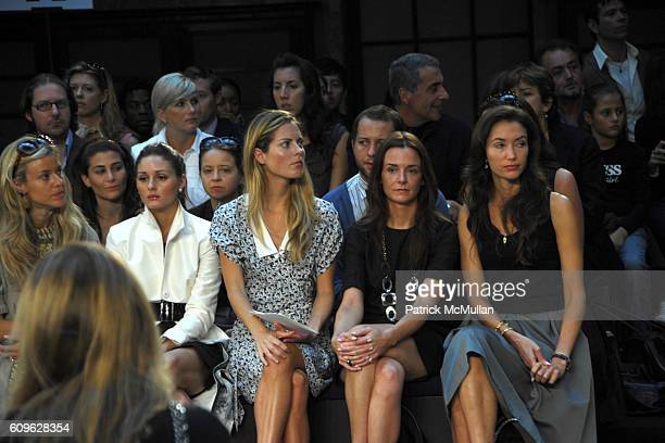 Eleanor Ylvisaker Olivia Palermo Ferebee Bishop Taube Annie Churchill and Olivia Chantecaille attend MALO Spring 2008 Collection at New York Public...