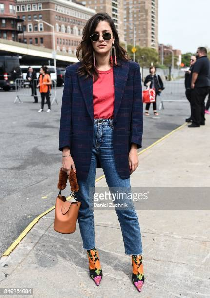 Eleanora Carisi is seen outside the Coach show during New York Fashion Week Women's S/S 2018 on September 12 2017 in New York City