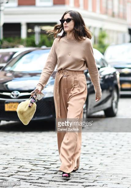 Eleanora Carisi is seen outside the Tibi show during New York Fashion Week Women's S/S 2018 on September 9 2017 in New York City