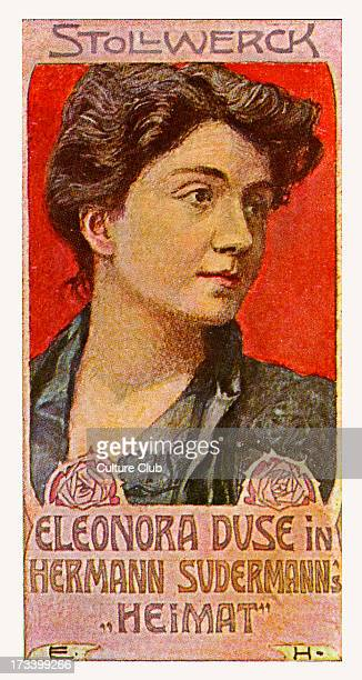 Eleanora Duse in Heimat by Hermann Sudermann Play published in 1893 EL Italian actress 3 October 1858– 21 April 1924 HS German dramatist and novelist...