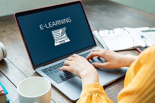 e-learning concept. Online classes. 1140691163