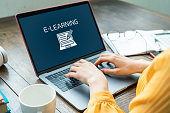 e-learning concept. Online classes.