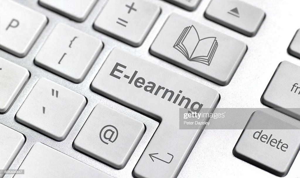 E-learning keyboard : Stock Photo