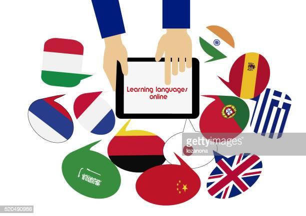 E-learning. Dictionnaire Mobile. Apprentissage de langues en ligne  :   arabe.