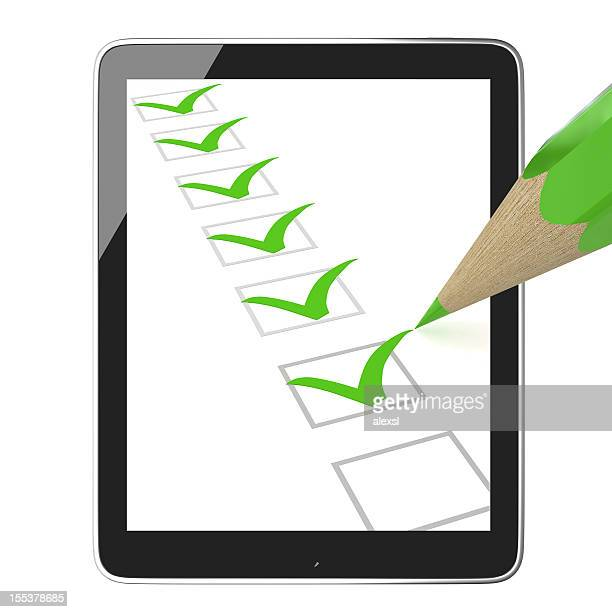 e-learning - checkbox stock photos and pictures