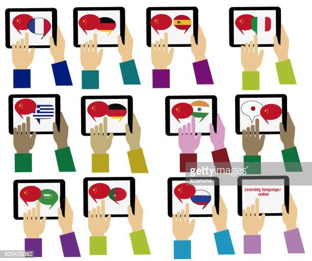 E-learning.Chinese,  Mobile dictionary. Learning languages online