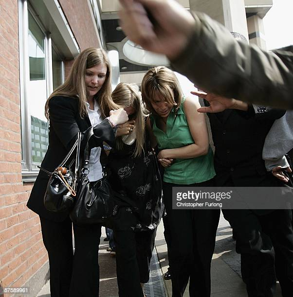 Eleasha Hamed wife of former world boxing champion Naseem Hamed is comforted by friends as she leaves Sheffield Crown Court as her husband was...