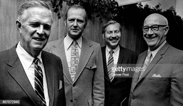 Elected Tuesday night as 1972 officers of the Denver Athletic Club 1325 Glenarm Place were left to right Jack J Vance president Robert D Esbenson...