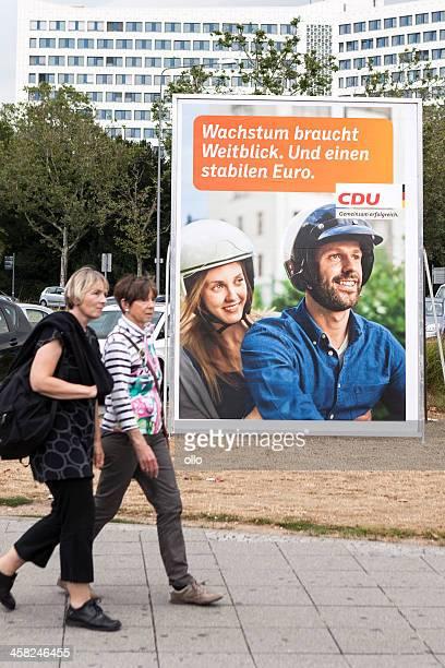 Campagna elettorale Tabellone della CDU/Bundestagswahlkampf 2013