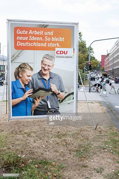 Wahlkampf billboard der CDU/Bundestagswahlkampf 2013