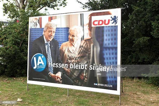 Wahlkampf billboard der CDU/Landtagswahlkampf 2013