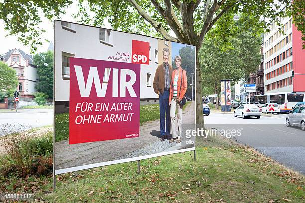 Wahlkampf billboard der SPD/Bundestagswahlkampf 2013