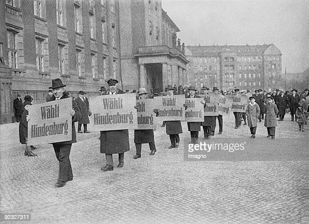Election campaign for Paul von Hindenburg in Berlin Photograph 1925