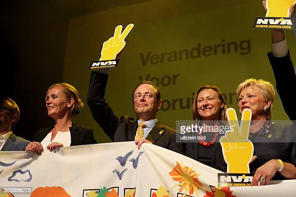 Election congress of the NVA . Prelude to the election campaign to the Belgian Parliament, the regional elections and the European elections on . The...