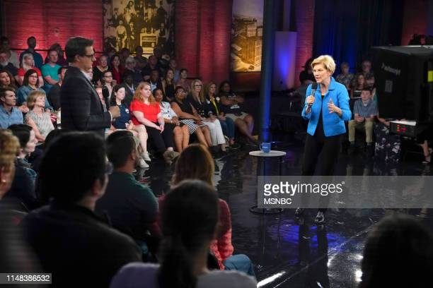 MSNBC Election Coverage All In With Chris Hayes Town Hall with Elizabeth Warren Pictured Chris Hayes Elizabeth Warren