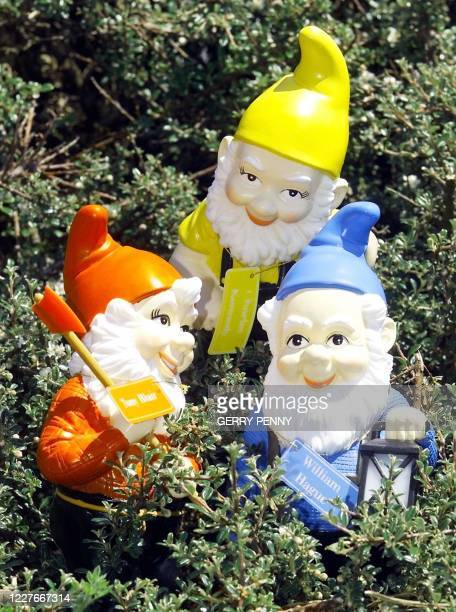Election fever hits the marginal constituency of Eastbourne with party political gnomes of the three leaders psyching each other out in manifesto...